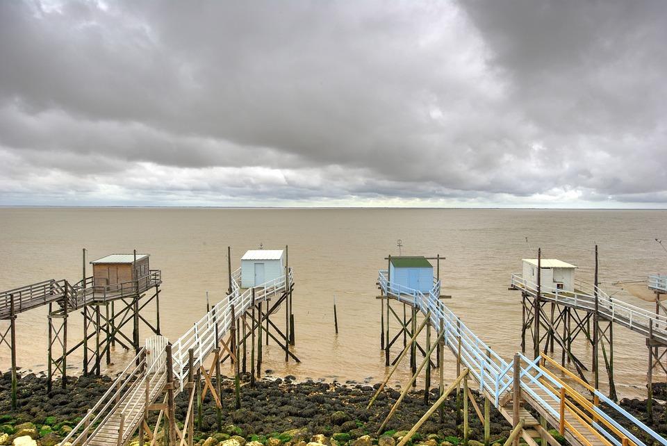 Estuary, Gironde, Cabin, Of, Fishing, Plaice, Talmont