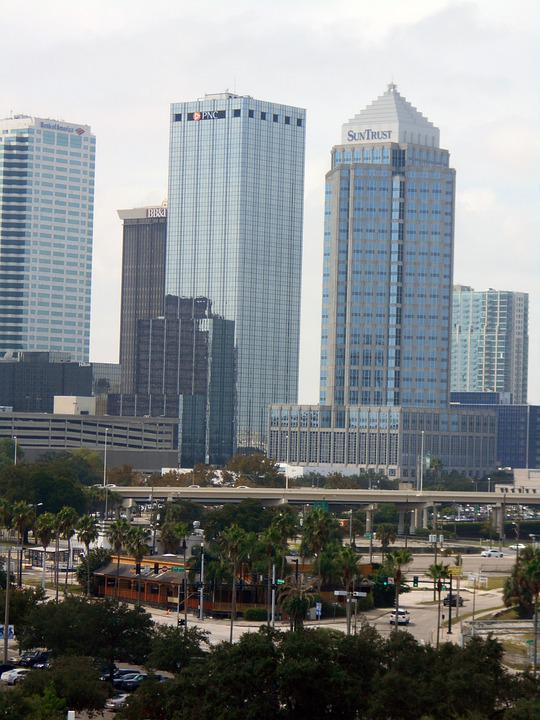 Tampa, Florida, Skyline, Downtown, Vacation, Tourism