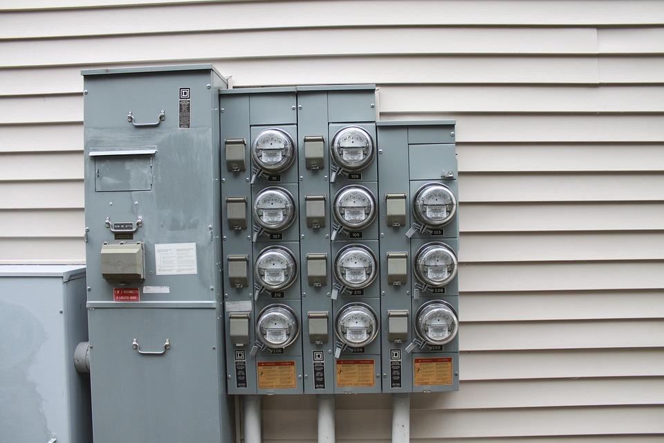 Meter, Electric, Building, Tan, Siding