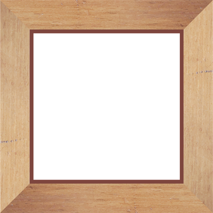 Frame, Square, Picture, Wood, Brown, Tan, Picture Frame