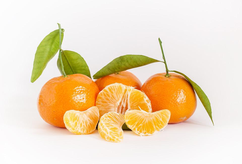 Tangerines, Tropical Fruits, Vitamins, Healthy, Fruit