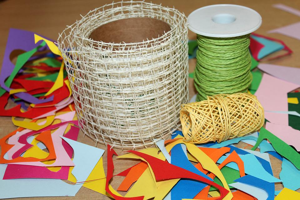 Twine, Tangle, Rolled Up, Creative Play, Shredded Paper