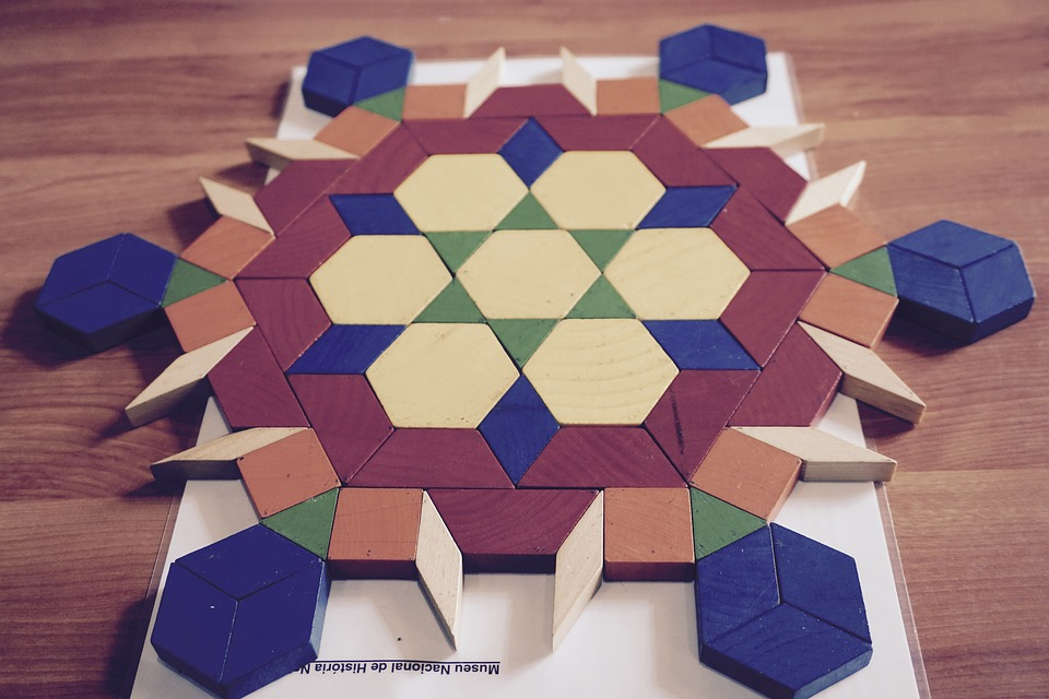 Tangram, Wooden, Shapes, Patterns, Muted, Geometric
