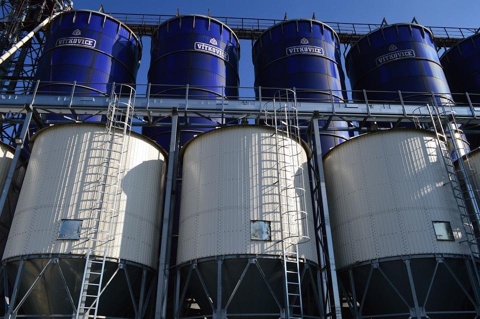 Tank, Metal, Grain, Silo, Construction, Steel