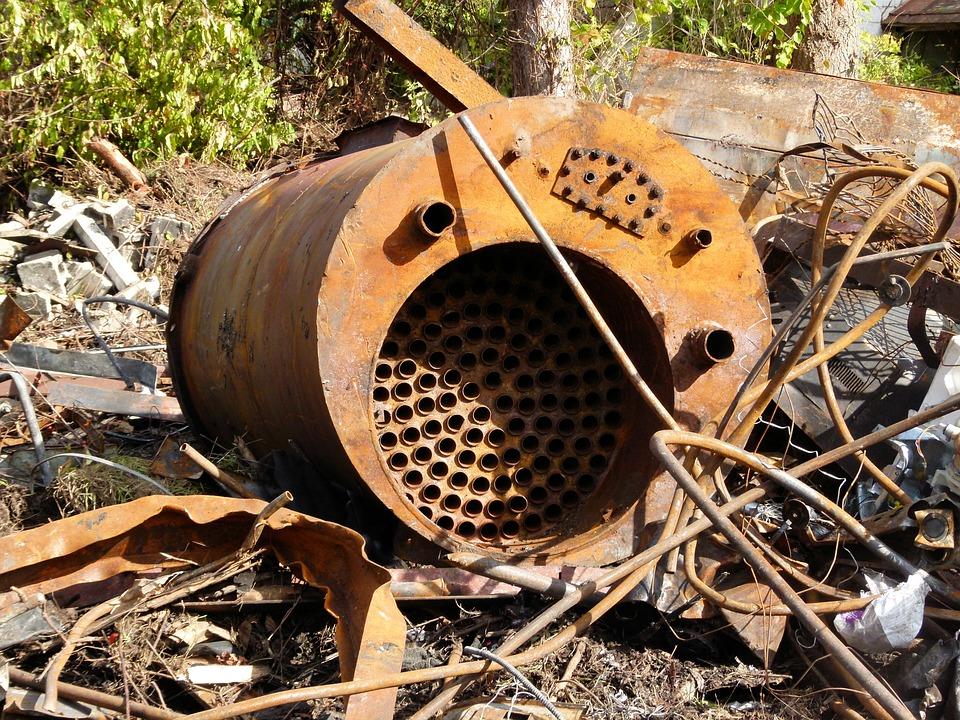 Scrap Metal, Tank, Rusted, Recycling, Metal