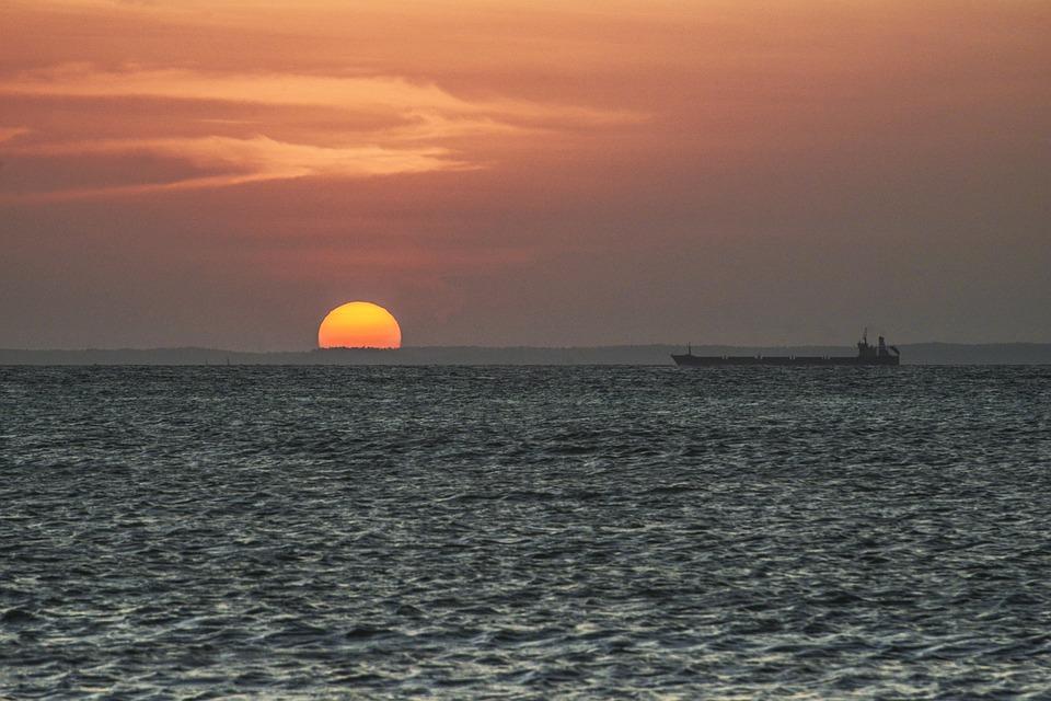Tanker, Energy, Landscape, Ship, Sun, Power, Boat