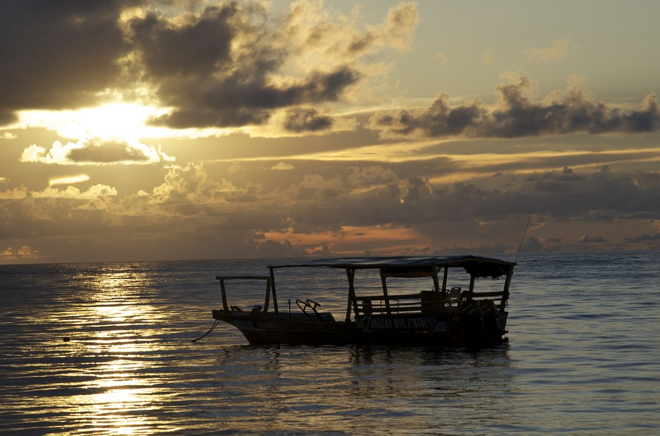 Dhow Boat, Sunset, Africa, Tanzania