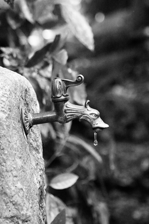 Faucet, Old, Well Water, Dripping, Water, Tap, Metal