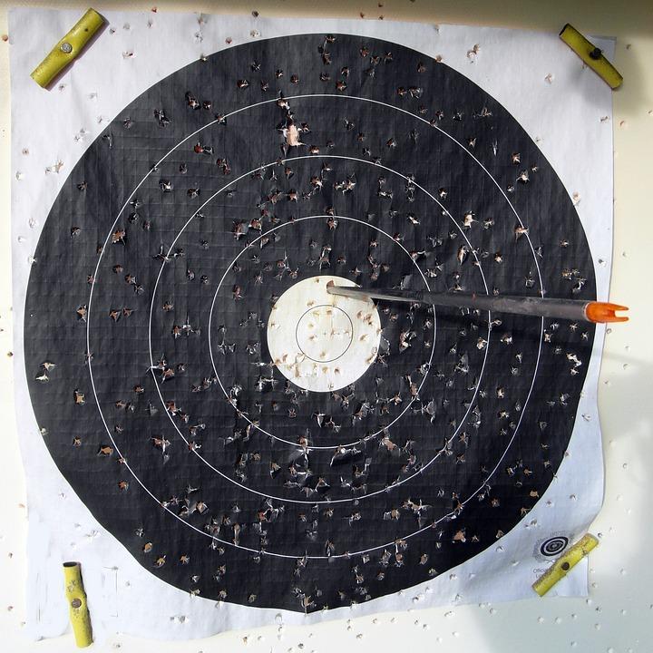Target, Arrow, Bogensport, Hits, Archery