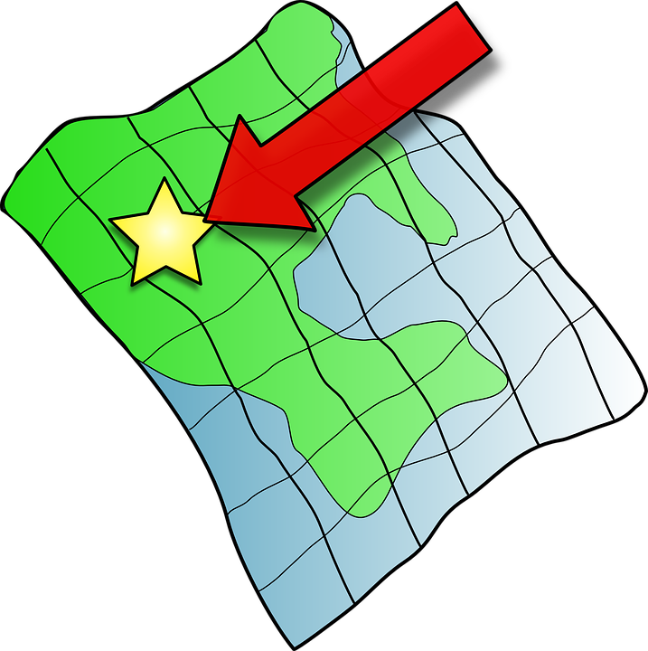 Map, Point, Star, Arrow, Pointing, Target, Goal