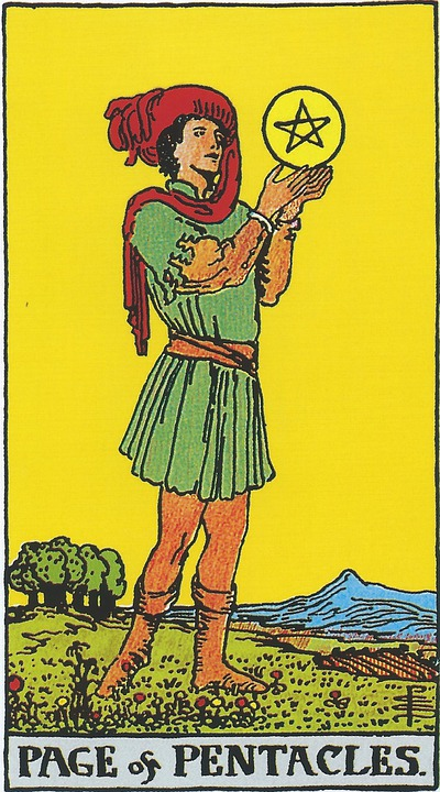 Page Of Pentacles, Tarot, Pentacles, Coins