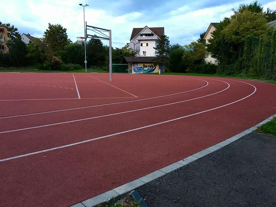 Plastic Track, Tartan Track, Red, Target, Run, Leisure
