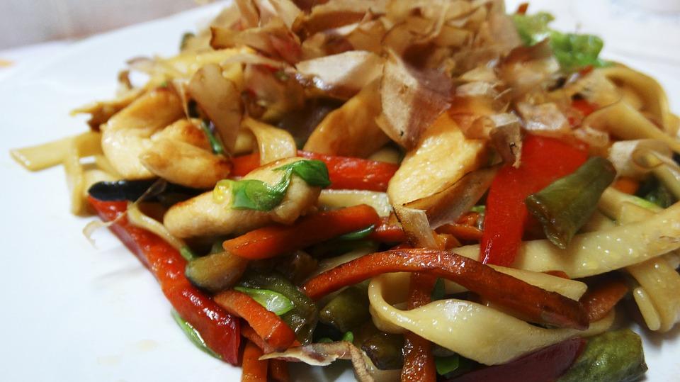 Noodles, Food, White Background, Kitchen, Tasty, Pork