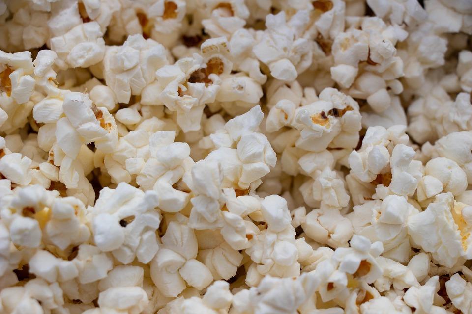 Popcorn, Cinema, Eat, Food, Snack, Tasty, Brown Food