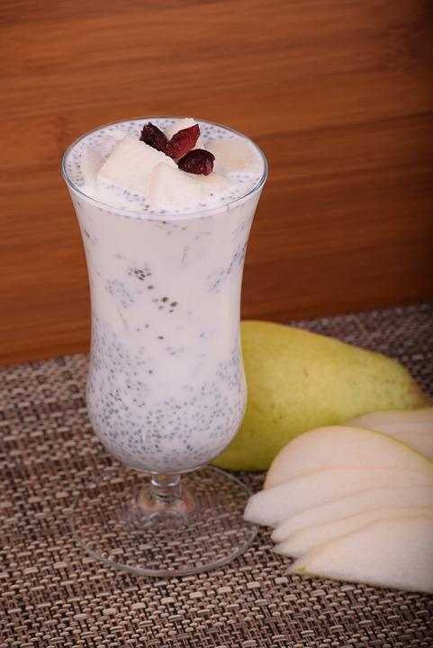Pudding, Simple, Tasty, Recipes, Chia Seeds, Pear