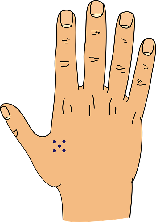 Hand, Tattoo, Dots, Drawing, Sketch, Graphic, Fingers