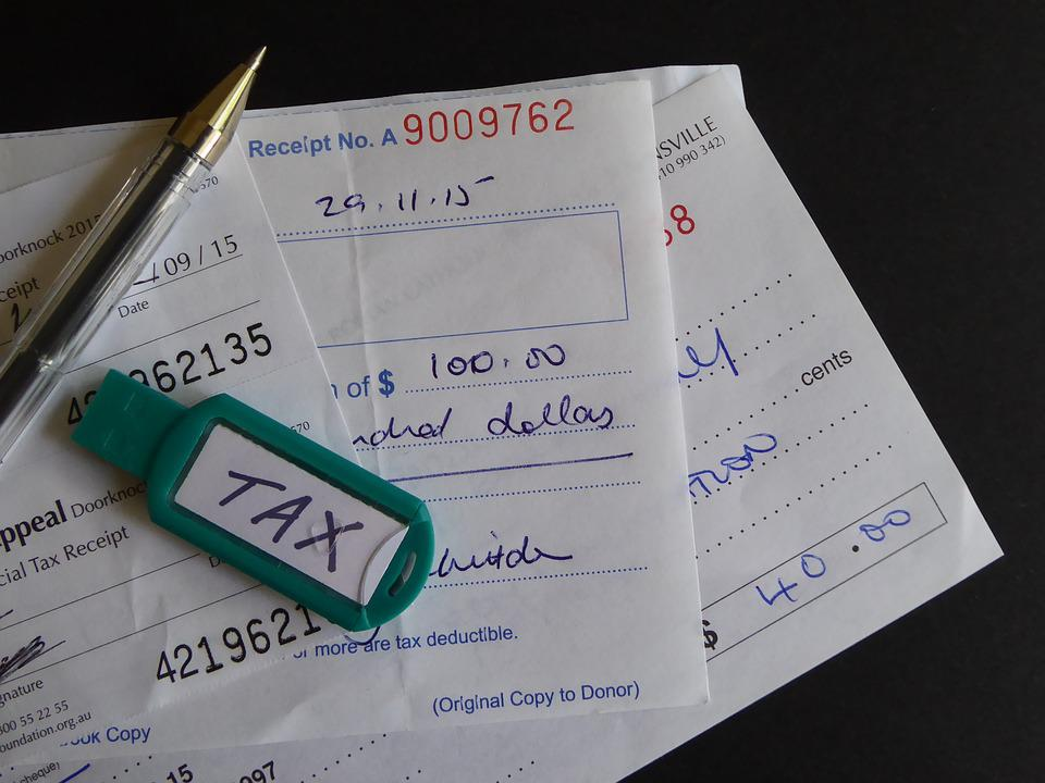 free photo tax receipt deduction charity donation donate max pixel