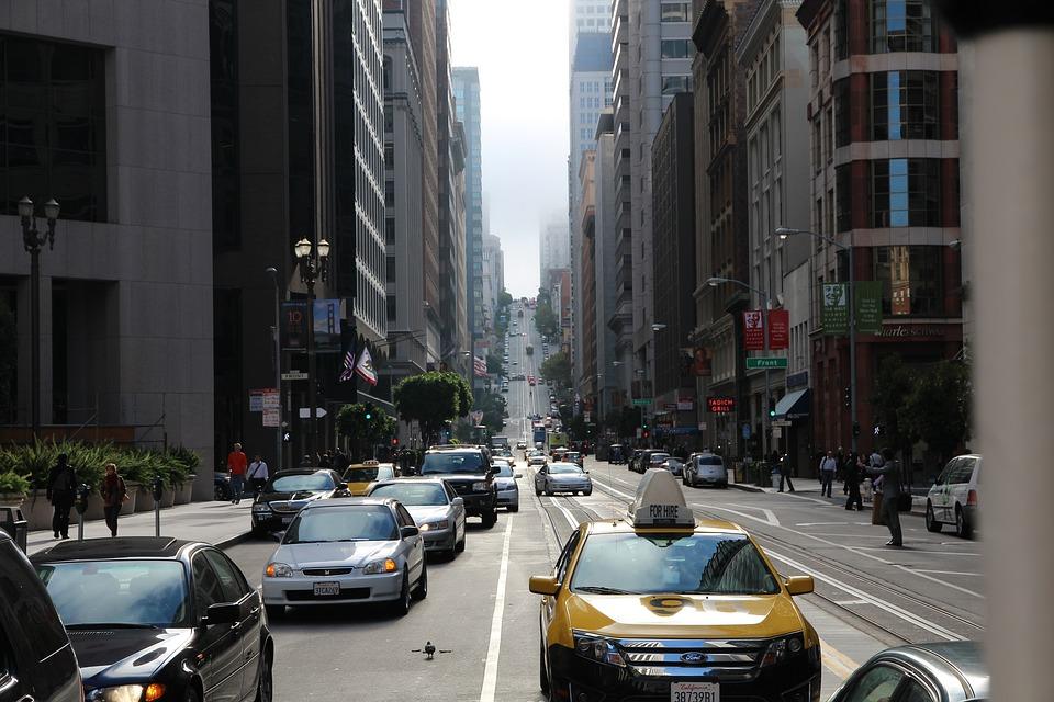 Taxi, Traffic, City, Yellow, Usa