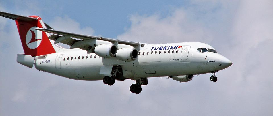 Plane, Tc-tha, Rj100, Turkish, Airportist, Landing