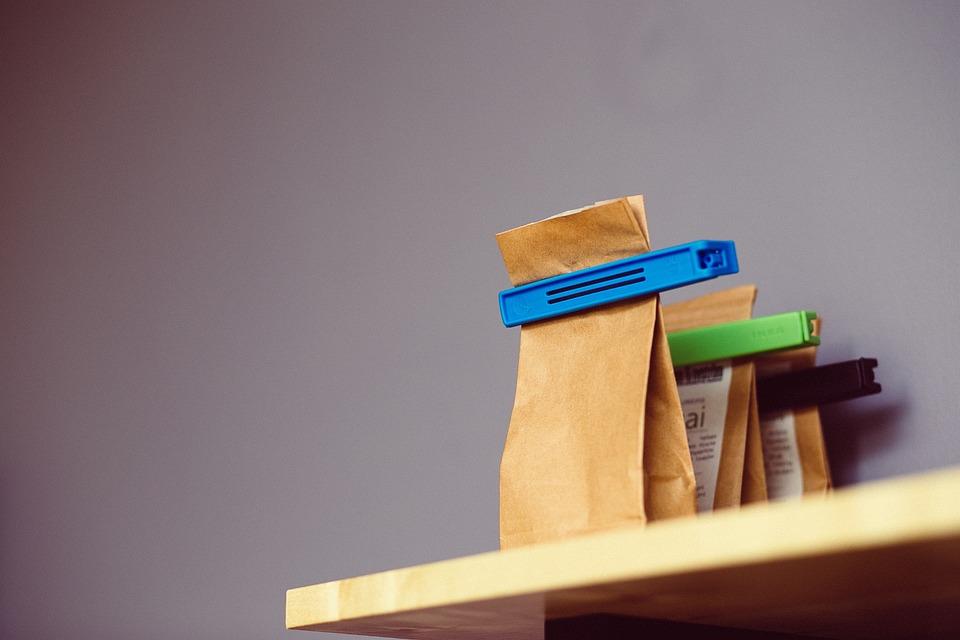 Tea, Paper Bags, Clips