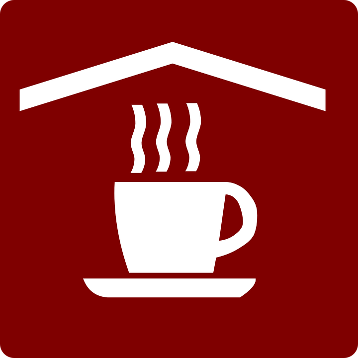 Coffee, Tea, Symbol, Red, White