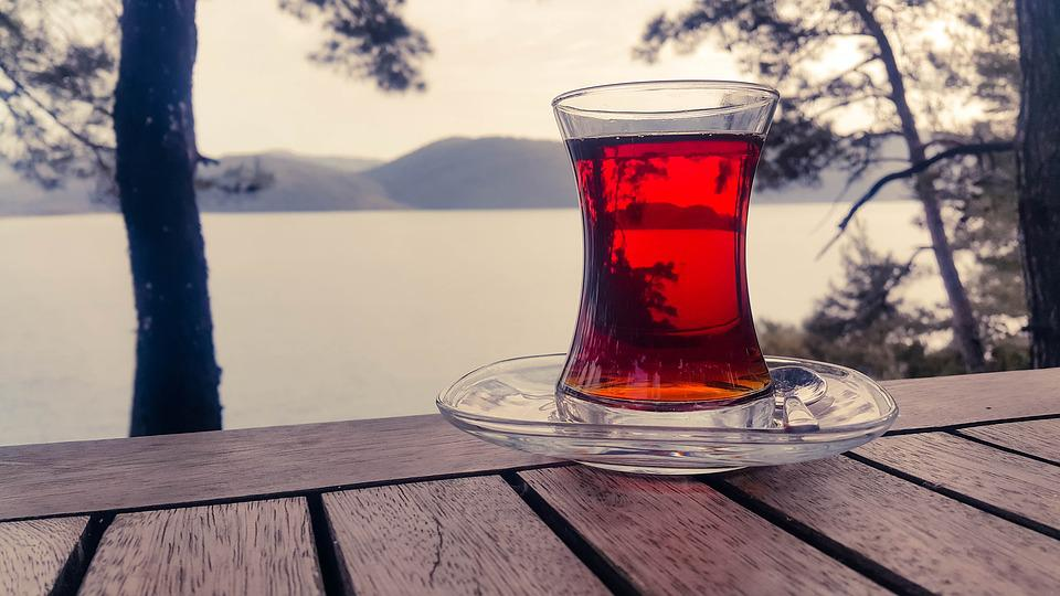 Tea, Tea Cup, Nature, Outdoor, Glass, Red, Tranquil