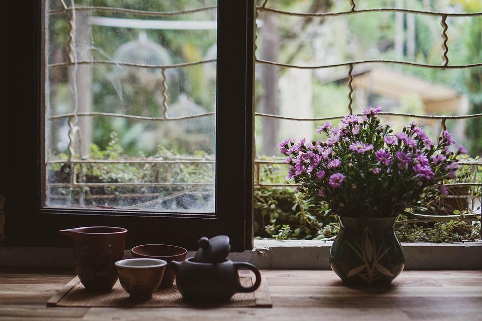 Tea, Teacups, Flowers, Flower Vase, Teapot, Cups