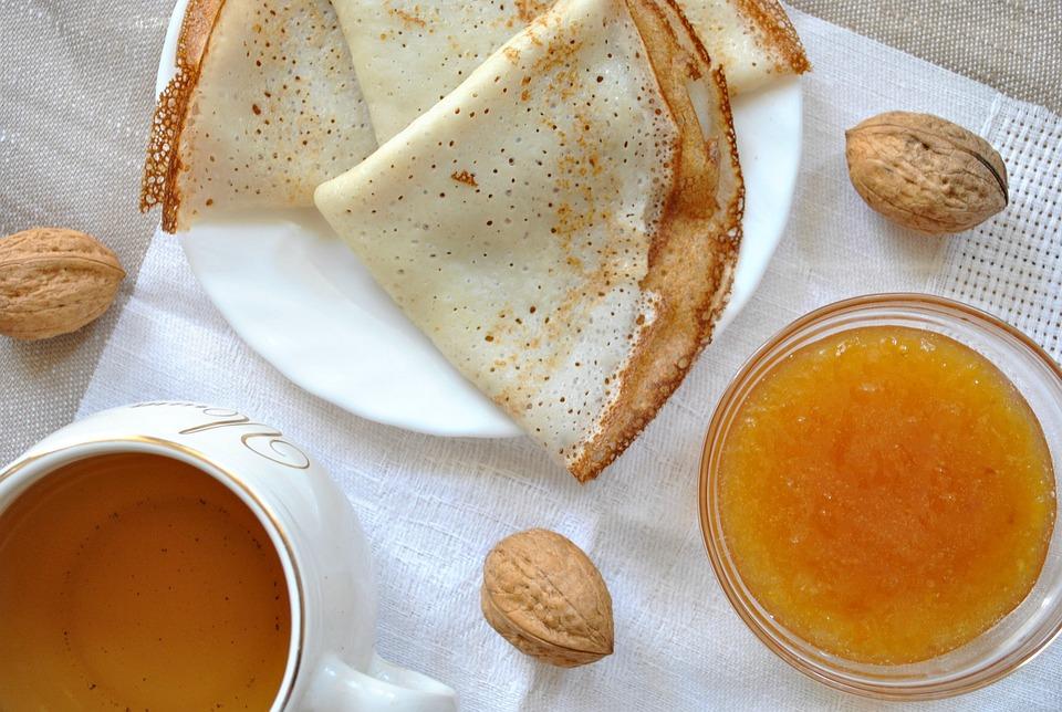 Pancakes, Tea, Jam, Tea Party, Honey, Herbal Tea