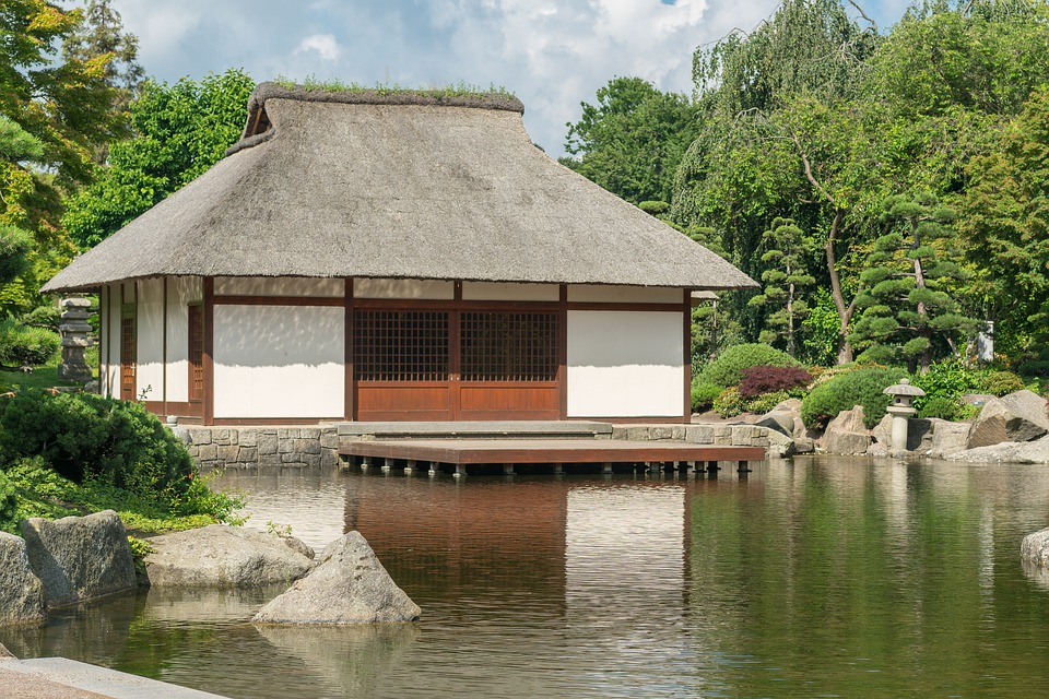 Tea House, Hamburg, Mirroring, Park, Tee, Rest, Culture