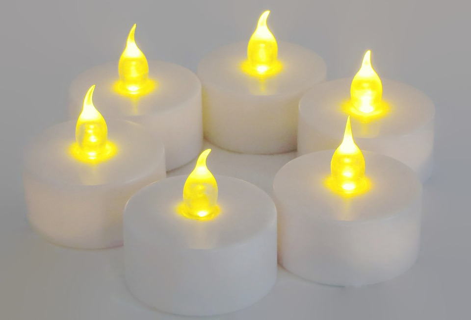 candles battery operated glow illuminate tea light