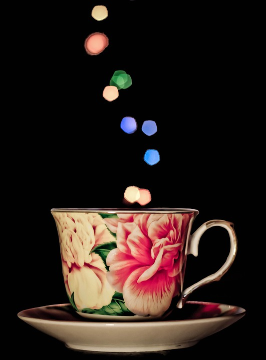 Cup, Mug, Tea, Bokeh, Lights