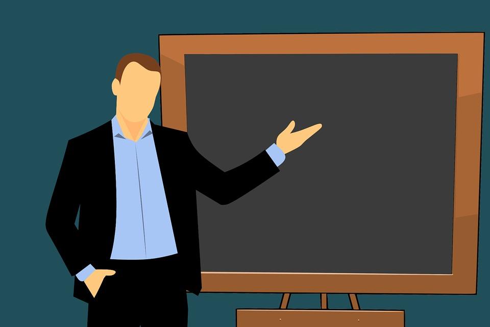 Teacher, Cartoon, Board, Chalkboard, Class, Person