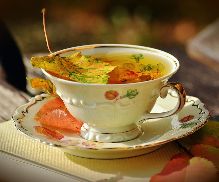 Tee, Teacup, Autumn, Autumn Colours, Fall Leaves