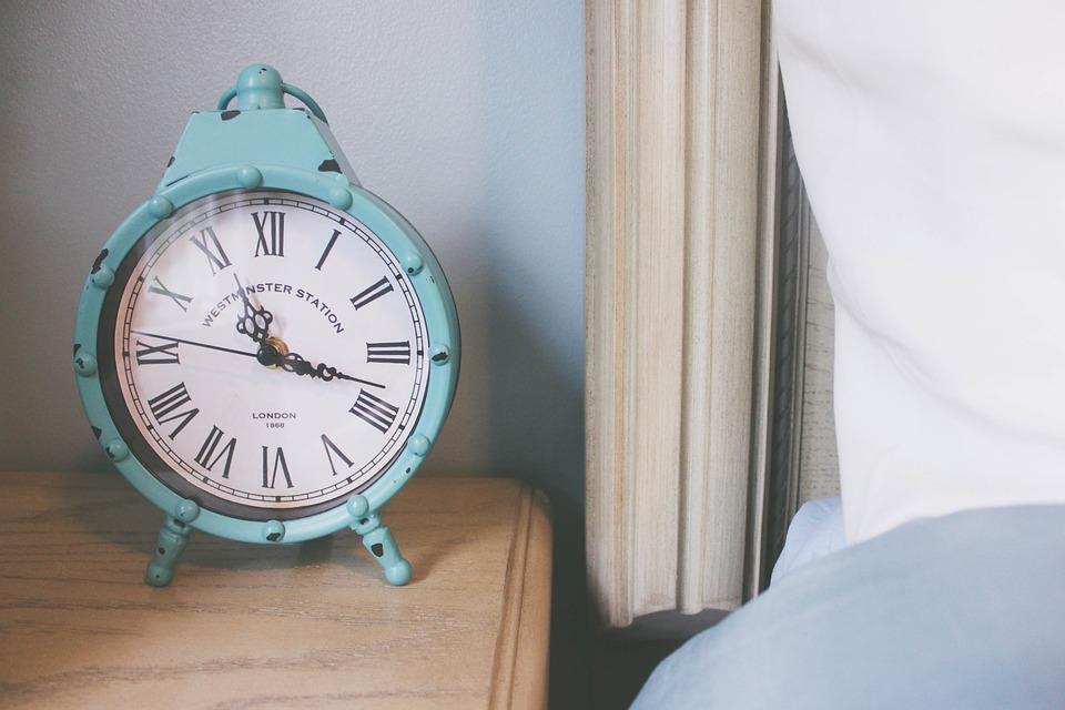 Free photo Teal Nightstand Bedroom Alarm Clock Clock - Max Pixel
