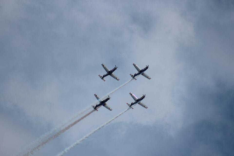 Irish Air Corps, Team, Airshow, Airplane, Flight, Blue