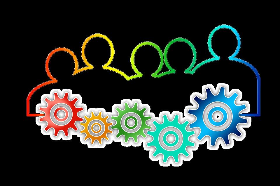 Teamwork, Team, Gear, Gears, Drive, Personal, Group