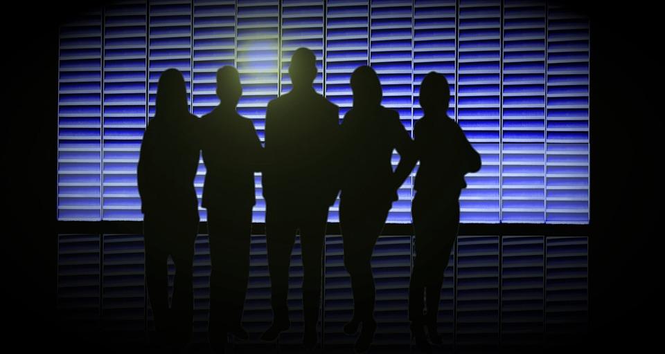 Team Spirit, Teamwork, Euro, Silhouette, Businessmen