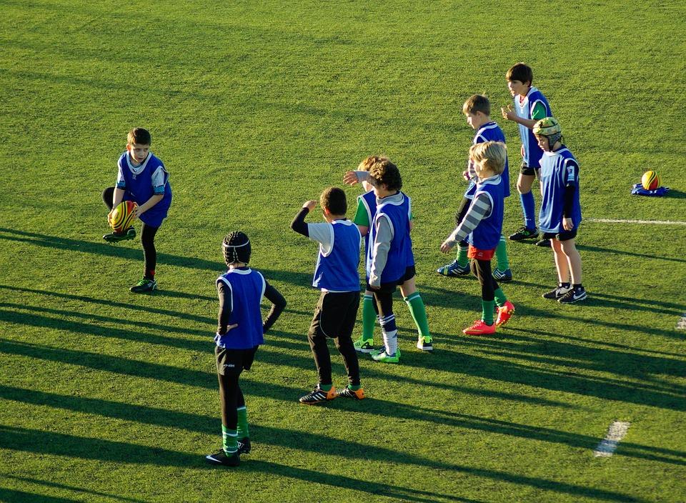 Rugby, Sports, Ball, Team, Children