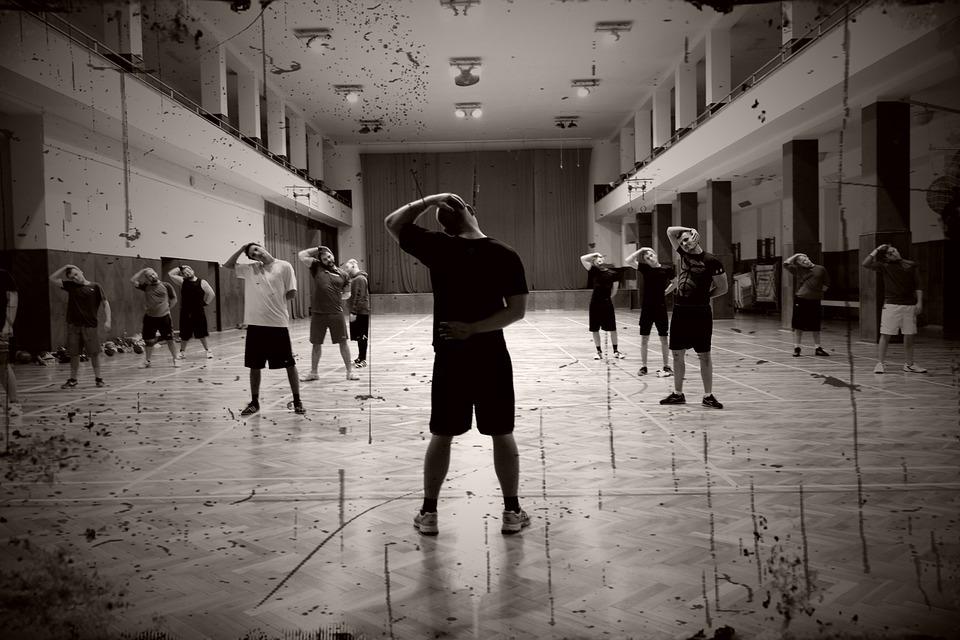Warm-up, Exercise, Men, Team, Training