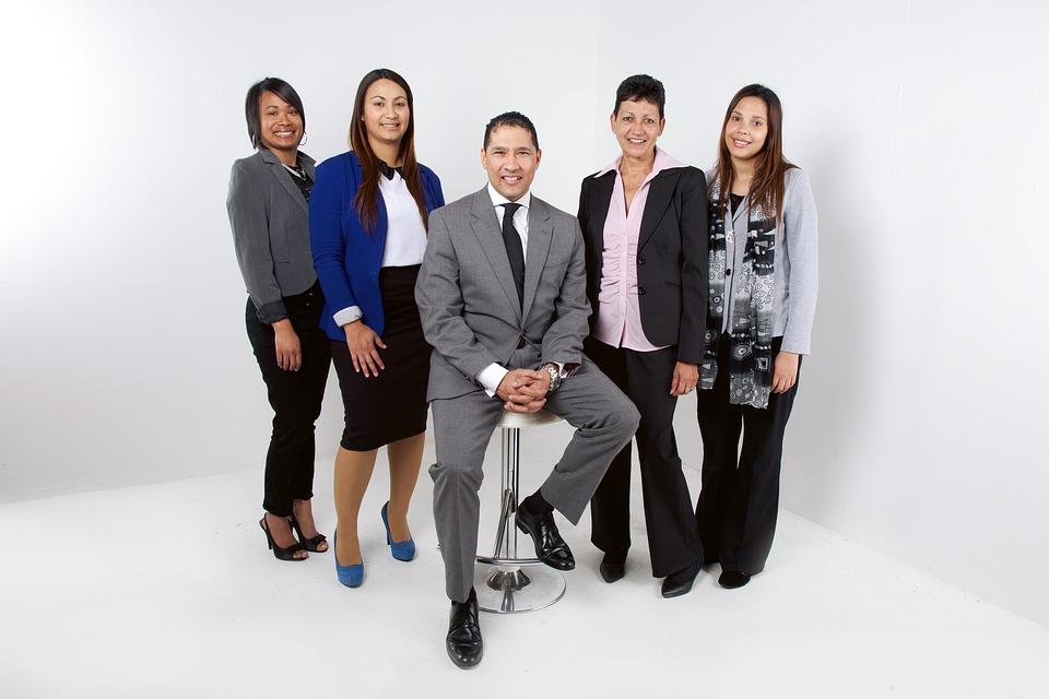 Employees, Team, Corporate, Teamwork, Office, Staff