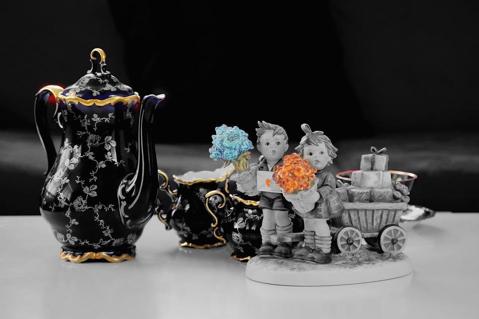 Porcelain, Coffee Pot, Coffee Service, Teapot, Black