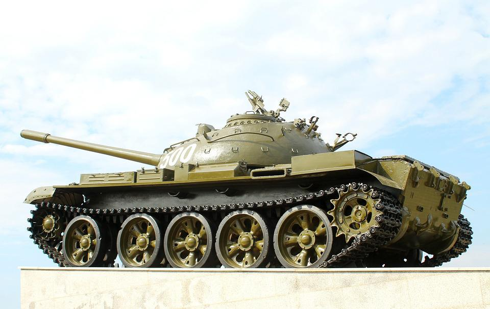 Russian Tank, T-55, The Caterpillars, Cannon, Technique