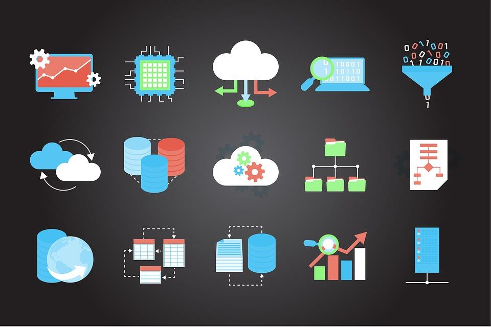 Technology, Icons, Internet, Symbol, Design, Business