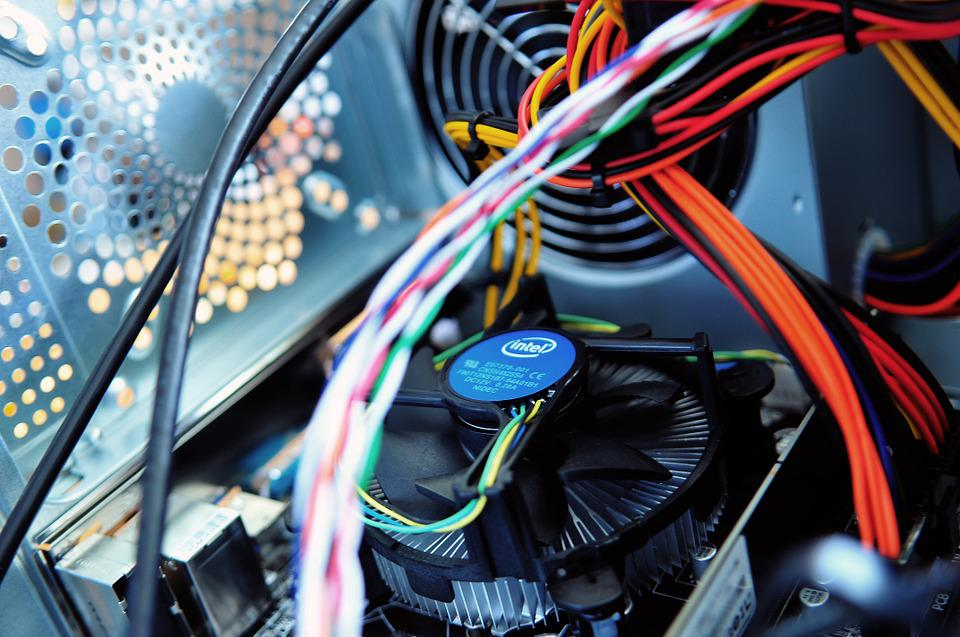 Computer, Fan, Wires, Parts, Inside, Technology, Design