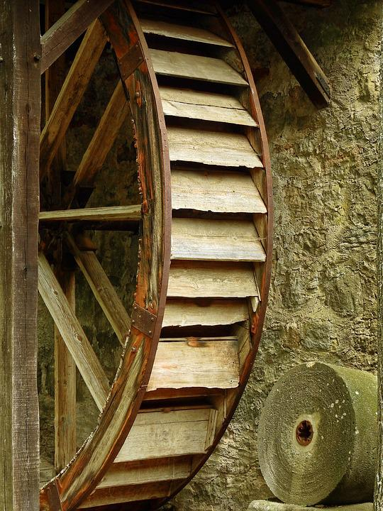 Mill, Technology, Historically, Grind, Old, Wood