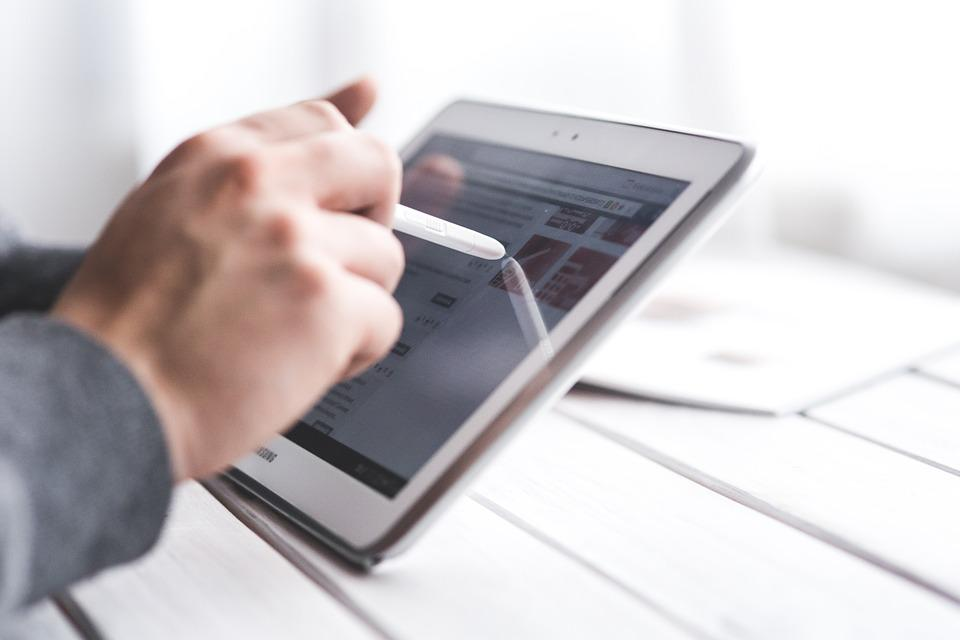 Tablet, Digital, Technology, Device, Hand, Man, Stylus