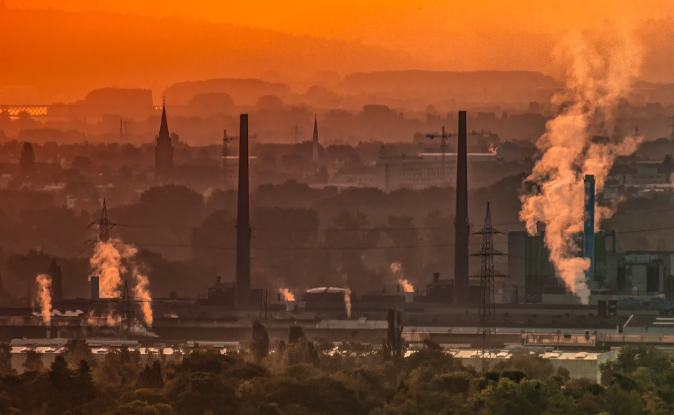 Industry, Technology, Environment, Landscape, Pollution