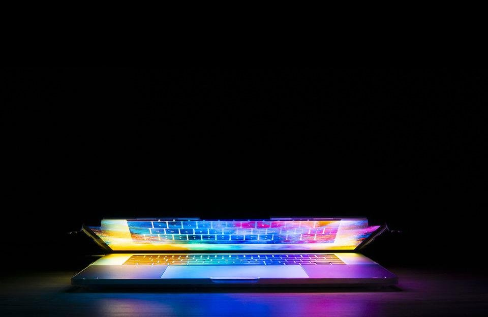 Keyboard, Computer, Technology, Light, Colorful, Design