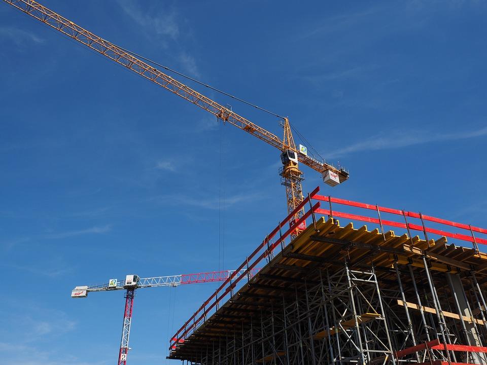 Baukran, Site, Construction Work, Technology
