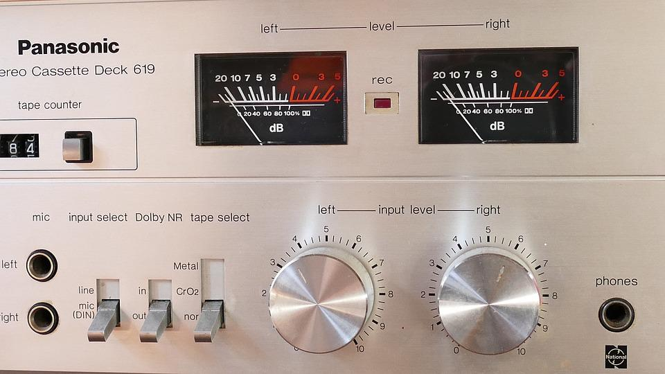 Stereo, Dials, Equipment, Music, Technology, Sound